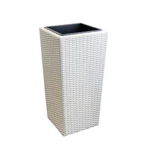 JARDINIÈRE - POT FLEUR   Bac de fleurs (Lo x La x H) 26x26x50cm blanc