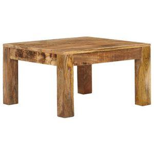 TABLE BASSE Table basse 60 x 60 x 35 cm Bois de manguier massi