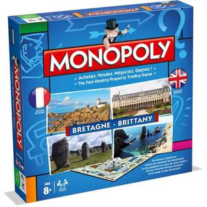 JEU SOCIÉTÉ - PLATEAU MONOPOLY - Bretagne - Jeu de société - Version bil