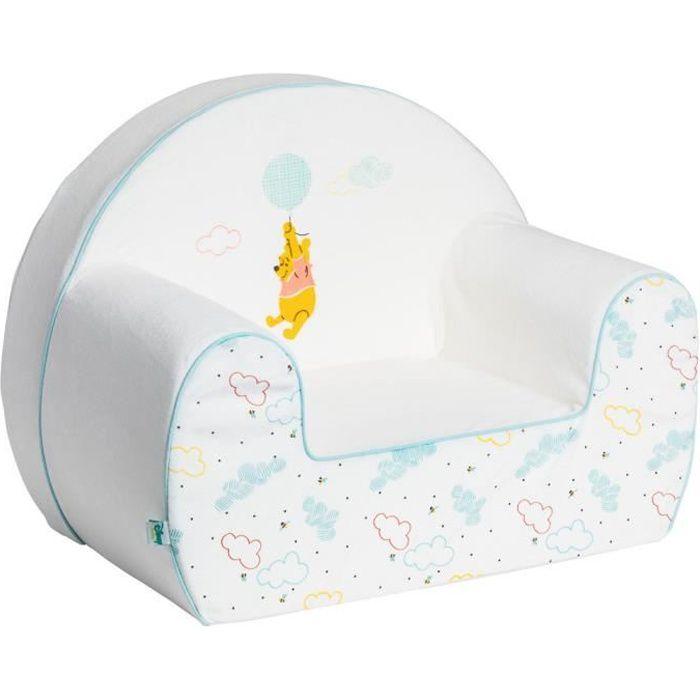 DISNEY BABY Fauteuil club dehoussable Winnie Hello Funshine - 25 cm - Velours 100% polyester