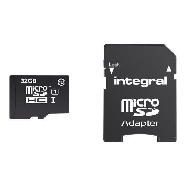 INTEGRAL Carte mémoire flash pour smartphone, tablette - Micro SD - 32 Go