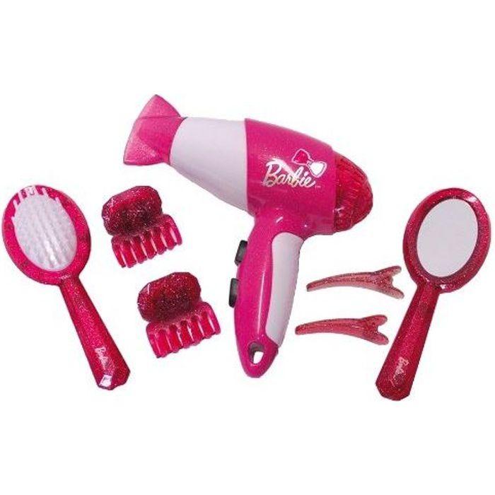 BARBIE - Set de coiffure avec sèche-cheveux 7 pièces