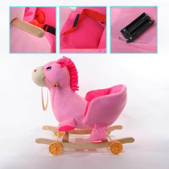 Cheval Rose Chaise à Bascule Pour Bébé 18 Mois Achat Vente