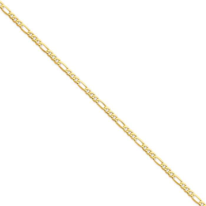 14 carats - 4 mm-plat Figaro chaîne collier - 20 pince de homard