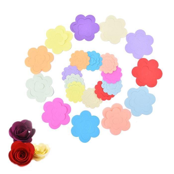 Style magnifique meilleure collection femme 11 couleurs papier quilling fleurs rose papier main accessoires matériel