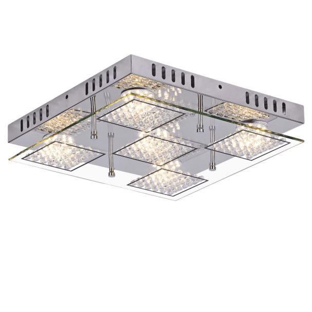 Lustre plafonnier LED à strass 33 cm - Diamond - EN SOLDES ! Lustre ...
