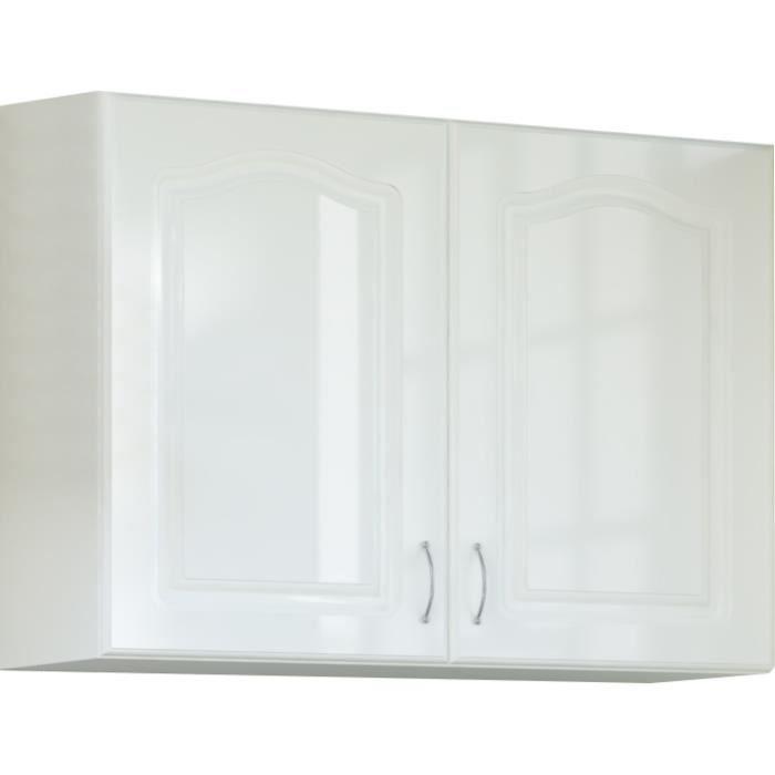 meuble haut de cuisine vitre blanc - achat / vente meuble haut de