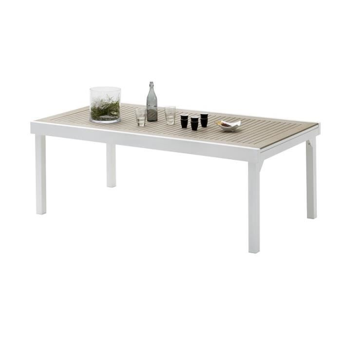 TABLE DE JARDIN MODULO POLYWOOD EXTENSIBLE 8 A 12 PLACES - Achat ...