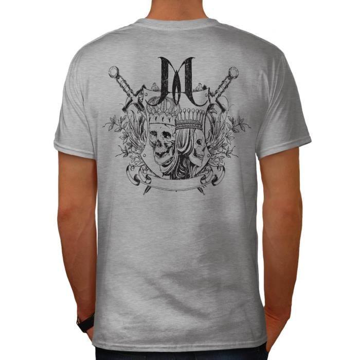 Royal Roi Reine Crane Crane Couronne Men S 5xl T Shirt A Col En V