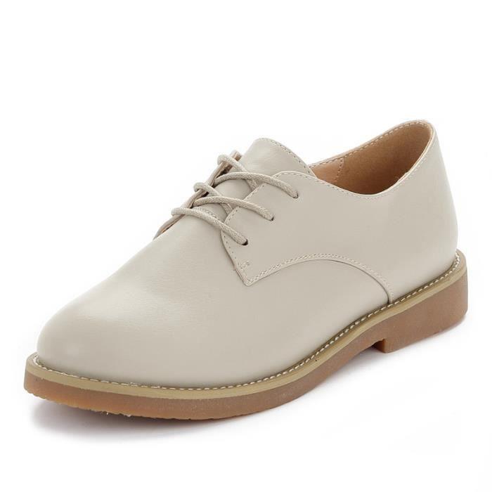 JOZSI Chaussure Femme Cuir Confortable mode Mocassion chaussures de ville BJYG-XZ214Marron37
