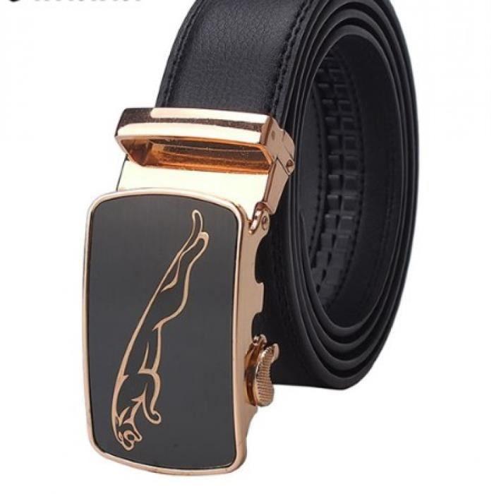 642ebdee568 Ceinture homme jaguar doré Noir Noir - Achat   Vente ceinture et ...