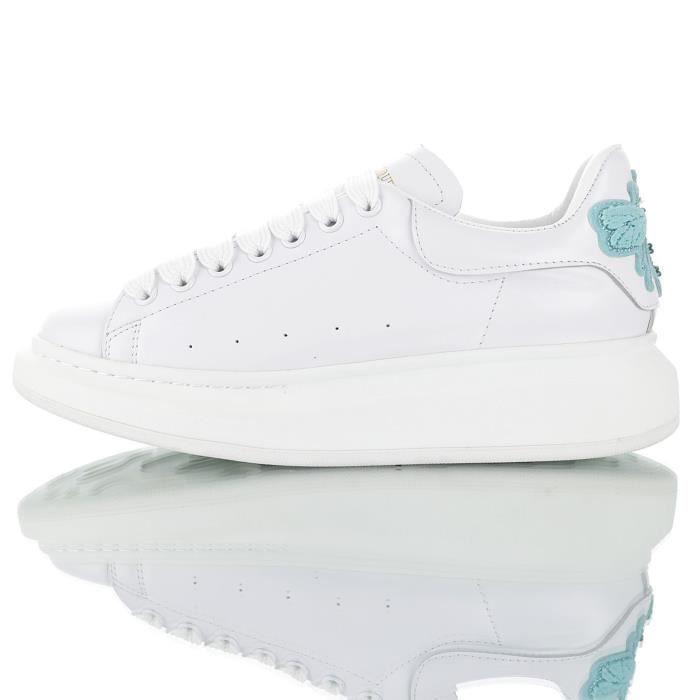 Chaussures Femme Mcqueen Alexander Blanc De AL354jqR