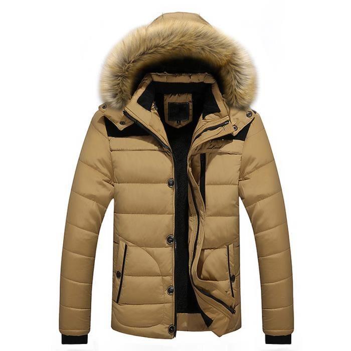 Plus À Bl5617 Les Plein D'hiver Manteau Air Chaud Fourrure Épais Hommes Veste Capuchon En qqPOzS6