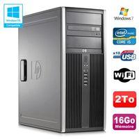 UNITÉ CENTRALE + ÉCRAN PC Tour HP Elite 8100 CMT Core I5-650 3.2Ghz 16Go