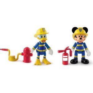 MICKEY Pack De 2 Figurines Mickey & Donald Pompiers