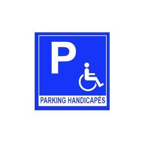 PANNEAU EXTÉRIEUR Panneau stationnement handicapés 30 x 30 cm alu di