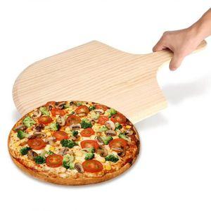 LOT USTENSILES Pelle à Pizza en Bois  Avec La Poignée (14 pouce)