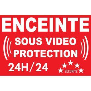 PANNEAU EXTÉRIEUR Panneau enceinte sous vidéo protection 24/24