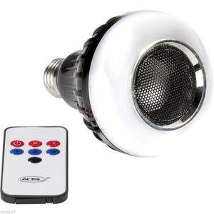 BOULE A FACETTES Ampoule Haut-Parleur Bluetooth Télécommande Led Mu