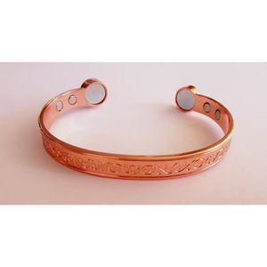 BRACELET - GOURMETTE Bracelet antidouleurs cuivre 100%- 6 aimants surpu