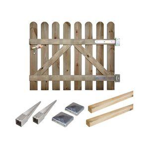 PORTAIL - PORTILLON Portillon kit en bois Coquelicot à enfoncer