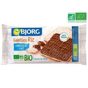 GALETTES RIZ - MAÏS BJORG Fines Galettes de Riz Chocolat Lait Bio 90g