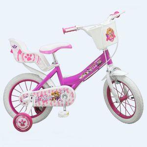 VÉLO ENFANT Vélo enfant 14 pouces la Pat Patrouille rose Licen