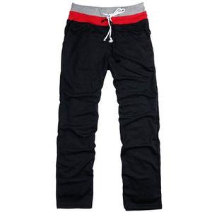 e407c61725173 PANTALON DE SPORT Pantalon Hommes Décontracté Sport Longue Noir
