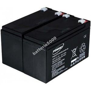 BATTERIE VÉHICULE Batterie gel-plomb Powery pour USV APC RBC 22 1...