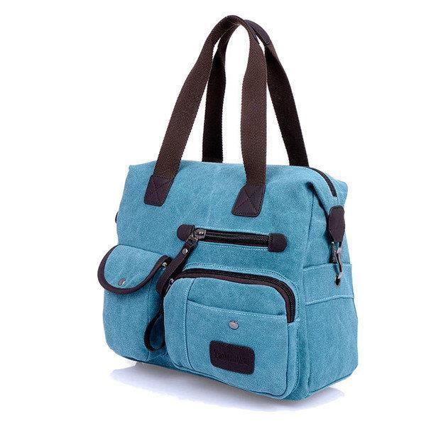 SBBKO473Ekphero hommes femmes toile sac vintage épaule Sac Messenger Bleu