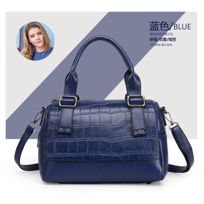 Sac à main sacs de mode Forfait de loisirs Femme Sacs Toutes les Saisons Polyuréthane Cabas pour Décontracté Sports Bleu495