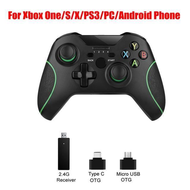 JOYSTICK 2.4G Manette de jeu sans fil pour console Xbox One