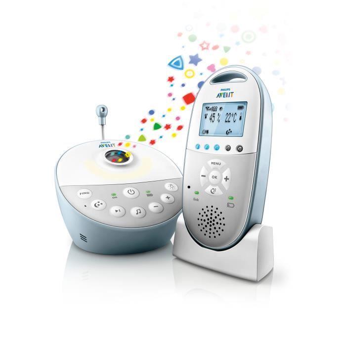 ÉCOUTE BÉBÉ PHILIPS AVENT Babyphone Audio Veilleuse DECT SCD58