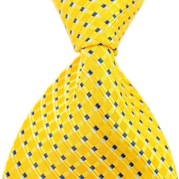 New Classic Floral Or Jaune Jacquard Tissé 100/% Soie Hommes Cravate Cravate
