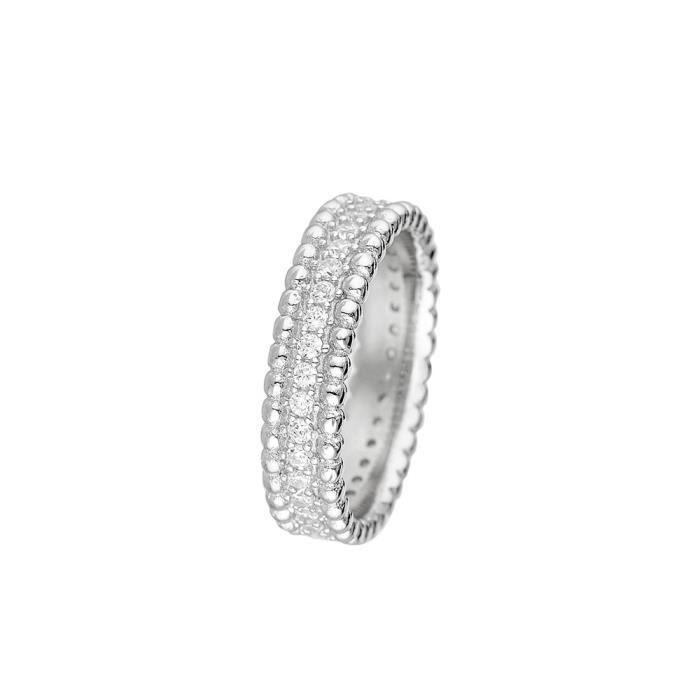 4dbae8788 Mes-bijoux.fr - Bague Femme Délicate Harmonie en Argent 925-1000 - 8DB3556gv