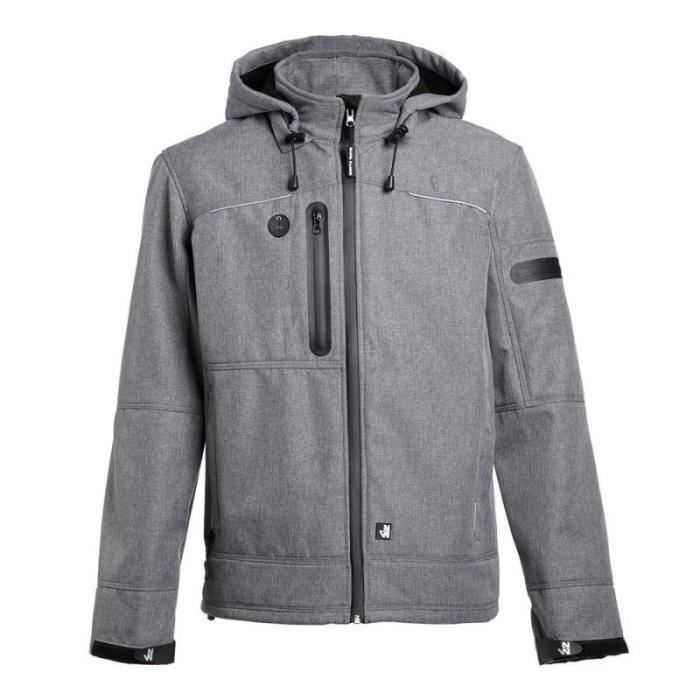 Ways De Veste Vêtement Mixte C Protection Softshell Gris Flores North C1nTqTHt