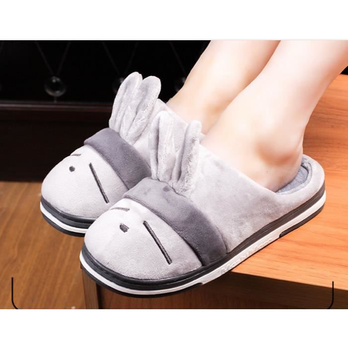 Chaussons Peluche Pantoufles Hommes Et Femmes Chaussons Hiver Slipper lapin Shoes Mashimaro Chaussure Animal Taille 36-41