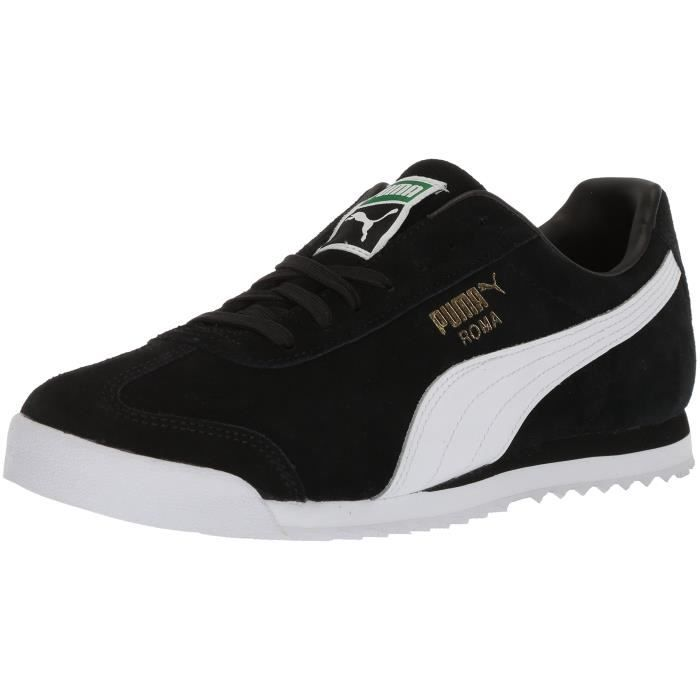 82d7dc3078d Puma Roma Suede Sneaker Mode pour hommes XBDLX Taille-42 Noir Noir ...