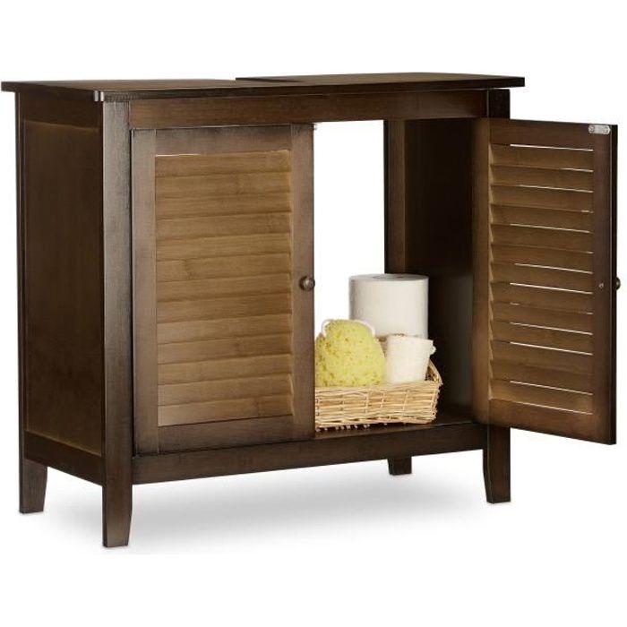 meuble sous evier de salle de bains achat vente pas cher. Black Bedroom Furniture Sets. Home Design Ideas