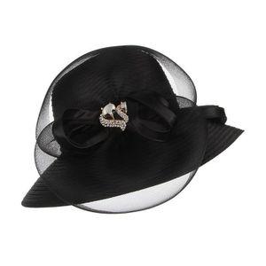 b567681dc8430 ... CHAPEAU - BOB GEMVIE Chapeau Femme Elégante Cérémonie Solaire Pa ...
