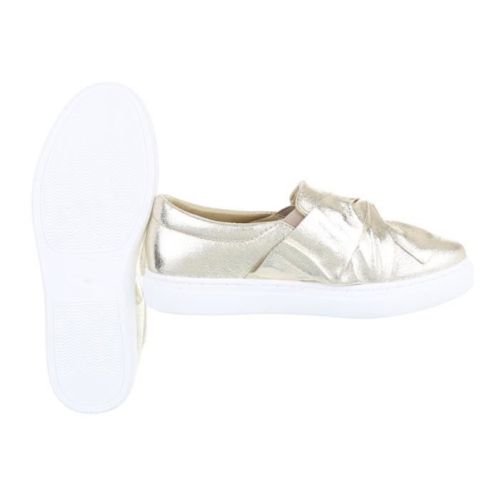 Chaussures femme flâneurs mocassin or 36 OTAeSdV