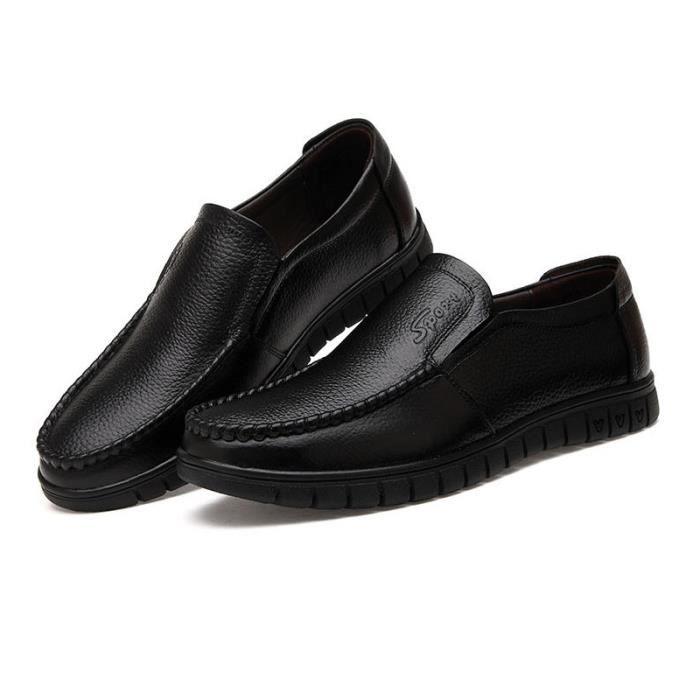 JOZSI Chaussures Hommes Cuir Confortable mode Homme chaussure de ville SHT-XZ196Marron38