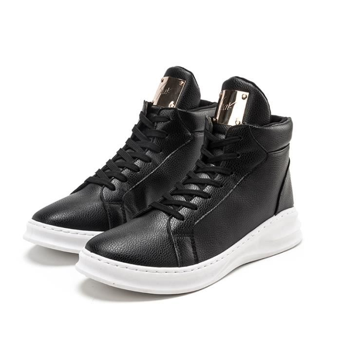 Noir Chaussures forme plate Homme Basket HqC7ax