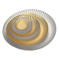SUPPORT PATISSIER Assiette carton metallise - 25, 50,100 unites diam