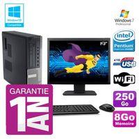 UNITÉ CENTRALE + ÉCRAN PC Dell 790 DT Intel G630 8Go Disque 250Go Graveur