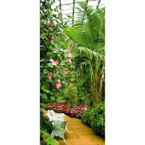 Poster Papier Peint Fleurs - Jardin D\'Hiver, 1 Partie (202 x 90 cm ...