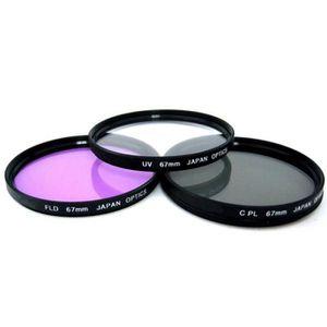 FILTRE PHOTO Set de 3 Filtres UV CPL FLD 67MM Pour NIKON DSLR D