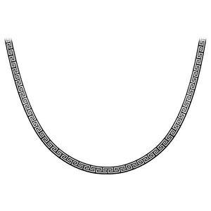 e1ce8656b082f SAUTOIR ET COLLIER Collier Argent 925 Maille Plate Motif Grec Traitem