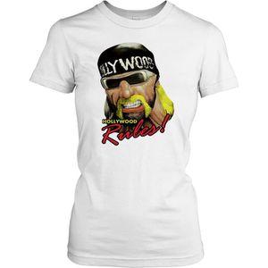 T-SHIRT Femmes t-shirt DTG Print - Hulk Hogan - Hollywood