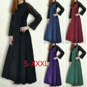 ROBE Costume médiéval, pur robe de couleur sans manches